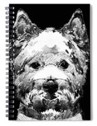 Black And White West Highland Terrier Dog Art Sharon Cummings Spiral Notebook