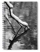 Black And White Winter Mood Spiral Notebook