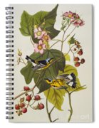 Black And Yellow Warbler Spiral Notebook