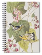 Black And Yellow Warblers Spiral Notebook