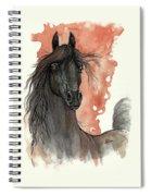 Black Arabian Horse 2013 11 13 Spiral Notebook