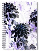 Black Blooms I I Spiral Notebook