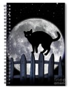 Black Cat And Full Moon 3 Spiral Notebook
