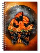 Black Cat Cupcake Spiral Notebook
