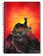 Black Cat. Mistress Of Diamond Mountain Spiral Notebook