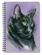 Black Cat Sith Spiral Notebook