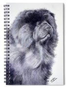 Black Chow Chow  Spiral Notebook