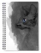 Black Cornish Rex No 04 Spiral Notebook