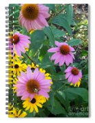 Black Eye Susans And Echinacea Spiral Notebook
