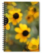 Black Eyed Susan Floral Spiral Notebook