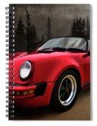 Black Forest - Red Speedster Spiral Notebook
