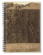 Black Friday, 1869 Spiral Notebook