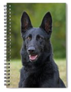 Black German Shepherd Dog Spiral Notebook