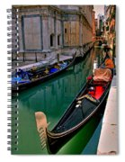 Black Gondola Spiral Notebook