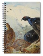 Black Grouse And Gamebirds By Thorburn Spiral Notebook