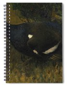 Black Grouse Cock Spiral Notebook