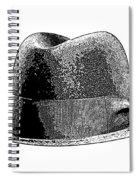 Black Hat T-shirt Spiral Notebook