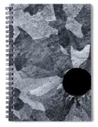Black Hole - Galvanized Steel - Abstract Spiral Notebook