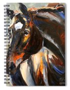 Black Horse Oil Painting Spiral Notebook