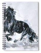 Black Horse Spiral Notebook