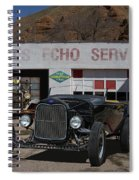 Black Ford Hot Rod Convertible Spiral Notebook