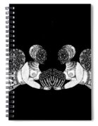 Black Infinity Spiral Notebook