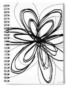 Black Ink Flower 1- Art By Linda Woods Spiral Notebook