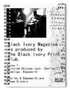 Black Ivory Issue 1 Page 2 Spiral Notebook
