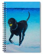 Black Labrador Painting Spiral Notebook