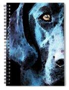 Black Labrador Retriever Dog Art - Hunter Spiral Notebook