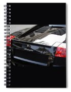 Black Lamborghini Sports Car  Spiral Notebook