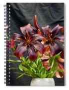 Black Lilies Spiral Notebook