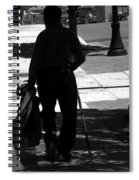 Black Man With Cane Spiral Notebook