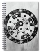 Mandala-black Spiral Notebook