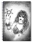 Black Metal Girl. Sofia Metal Queen. Sketch  Spiral Notebook