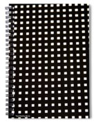 Black Metal Panel Abstract Spiral Notebook