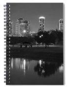 Black Night In Fort Worth Spiral Notebook