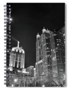 Black Night In The Windy City Spiral Notebook