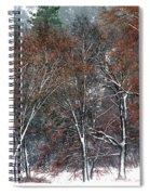 Black Oaks In Snowstorm Yosemite National Park Spiral Notebook