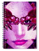 Black Orchid Eyes Spiral Notebook