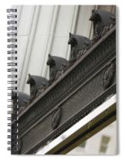 Black Ornate Trim On Marble White Building Spiral Notebook