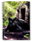 Black Panther Custodian Of Ancient Temple Ruins  Spiral Notebook