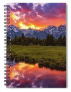 Black Ponds Sunset Spiral Notebook