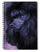 Black Poodle Spiral Notebook