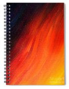 Black-red-yellow Abstract Spiral Notebook