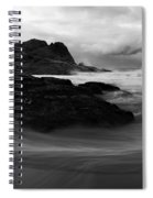 Black Rock  Swirl Spiral Notebook