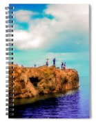 Black Rocks In Summer Spiral Notebook