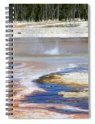 Black Sand Basin Geysers In Yellowstone National Park Spiral Notebook