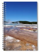 Black Sand Basin In Yellowstone National Park Spiral Notebook
