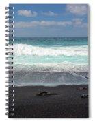 Black Sand Beach Spiral Notebook